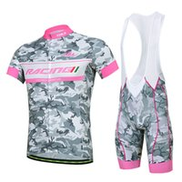 Wholesale Camouflage Cycling Jersey Bib Set Short Sleeves With Padded Cycling Jerseys Size XS XL Bike Wear Quick Dry Compressed Bicycle Clothing
