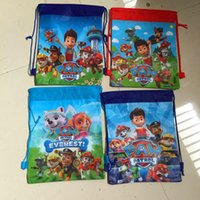 animal canvas bag - 36pcs Cartoon Paw Patrol Snow Slide Star Wars bag Theme Travel Home Clothing Organizer Storage Bags School bag bk44