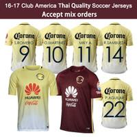 america soccer - 16 Mexico Club America Soccer Jersey Thailand Quality Men C BLANCO home away D BENEDETTO R SAMBUEZA O PERALTA Soccer Uniforms