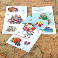 Wholesale 2016 New New Christmas Gifts Creative Three dimensional Christmas Greeting Cards Exquisite Creative Blessing Christmas Cards