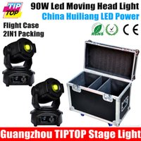 Wholesale Flight case in1 Packing xlot W LED Spot Moving Head Light For Stage Bar Disco Party DMX Stage Light DJ Lights DMX channel