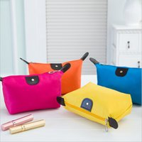 Wholesale 8 Colors High Quality Lady MakeUp Pouch Cosmetic Make Up Bag Clutch Hanging Toiletries Travel Kit Jewelry Organizer Casual Purse Ship free