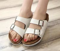 Wholesale Birkenstocks sandals men and women couple double buckle sandals platform sandals cork sandals flat slippers slip