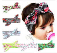 Wholesale 2016 fashion Baby Flower Headband Toddler Soft Girl Kids Cross Hairband Turban Knitte Knot Headwear Hair Accessories