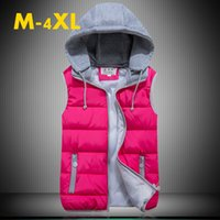 Wholesale Womens Waistcoat Down Vest Hooded Removable Ladies Cotton Coat Winter Vests Thicking Warm Outwear Outdoor Jacket Good Quality