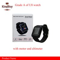 altimeter gps - u8 smart watches Bluetooth U8 Smartwatch Wrist Watches With Altimeter For iPhone Samsung S6 Note HTC Android Phone free DHL from kindboy