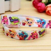 baby shop items - 5 quot mm Shop Cartoon Girls Fold Over Elastic FOE Printed Ribbon for Hair Bow DIY Craft Baby Item A2 F