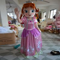 Cheap Hot Pink Princess Sofia Mascot Costume Cartoon Doll Suit Adult Size Fancy Dress Carnival Party Good Quality Factory Direct Free Shipping