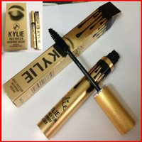 Wholesale Kylie Jenner Magic thick slim waterproof mascara Black Eye Long Eyelash Charming eyes roll out the shiny eyelashes Cosmetic Gold Birthday