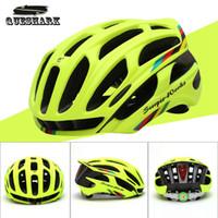 achat en gros de casque vtt-Casque de vélo en gros-Queshark Road Mountain casque de vélo in-moule casque de vélo ultraléger avec feux d'avertissement LED