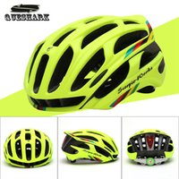 Wholesale Queshark Cycling Helmet Road Mountain In mold Bicycle Helmet Ultralight Bike Helmet With LED Warning Lights