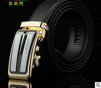 automatic letter - 2016 new hip brand buckle g designer belts for men women genuine leather gold cinto belt Men s