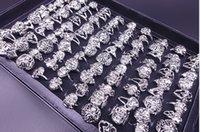 best biker - FFREE Best Price Rings skull carved biker men silver Plated Alloy Ring Fashion jewelry