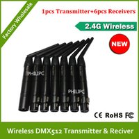 Wholesale DHL Ghz Wireless DMX512 Receiver Transmitter DMX Wireless Controller for Stage Wifi Par Can