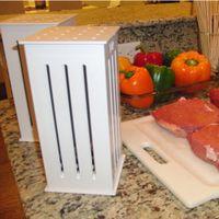 beef holes - BBQ Kebab Maker Box with Hole Skewers Brochette Beef Skewer Making Machine
