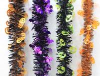bar decoration manufacturers - Foreign manufacturers supply explosion models Halloween pumpkin Halloween spider garland ribbons bat family festival bar scene Decoration