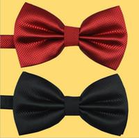 Wholesale Tie married men dress Korean version of the influx of men and women double wedding groom bow tie solid color