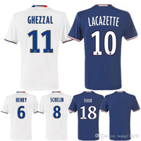 Wholesale Thai version of the quality Lyon Jerseys Lyonnais football Lacazette Gourcuff Fekir Olympique home and Lyon Jerseys