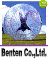 Cheap Zorb ball inflatable ball 2.5 or 3meter PVC or TPU outdoor sports toys Human hamster ball LLFA