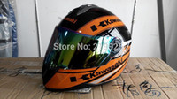 Wholesale Kawasaki helmet Motorcycle helmet Full Facel helmet riding helmet Genuine Abs Pc material safety helmet