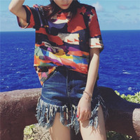 abstract print blouse - Military Style European Cotton Blouses Shirt Women Abstract Graffti Short Sleeve Blouses Casual Loose Shirts Top Blousas