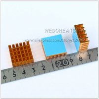 ball transfer bearings - x22x10mm Aluminum Radiator Heat Sink With Blue Thermal Adhesive Heat Transfer Pad Double side tape