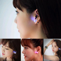 bar drop earrings - Hot Women Fashion Jewelry LED Earring Light Glowing Crystal Stainless Ear Drop Ear Stud Earring Jewelry Bar Trendsetter Essential Earring