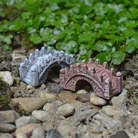 ceramic figurines - Bridge Miniature Landscape Fairy Garden Terrarium Doll Figurine Decor DIY Pretty