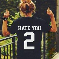 big rock clothing - HATE YOU TEE Shirt Tshirt Top Unisex Men Women Unisex Fashion T Shirt Rock Clothing for couples Lovers Big Size Women Clothing
