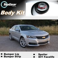 Wholesale For Chevrolet Impala Bumper Lip Lips Front Skirt Deflector Spoiler For Car Tuning The Stig Recommend Body Kit Strip