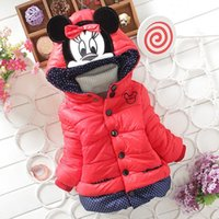 Wholesale New Children S Winter Outerwear Girls Cartoon Minnie Coat Baby Plus Thick Wool Cotton Jacket
