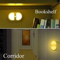 Wholesale ndoor Lighting Wall Lamps LED Wireless Light operated Motion pir Wall Sconce Portable Stick On Any where Auto LED Body Motion Sensor N
