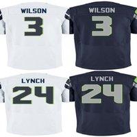 NFL - Marshawn Lynch Jersey Russell Wilson Jersey Football Jersey Sport Jerseys sportwear Embroidery Logos best quality