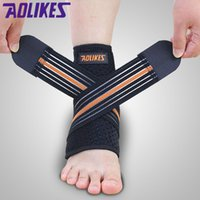 Wholesale New Aolikes Adjustable bandage Ankle Support wrap Strap Ankle Brace Pad Protection Guard Sport Basketball Cycling Running Outdoor Accs