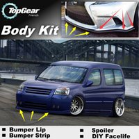 Wholesale Bumper Lip Lips For Citroen Berlingo Doninvest Orion M Front Skirt Deflector Spoiler For Car Tuning The Stig Recommend Body Kit Strip