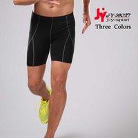 Wholesale 2016 New Running Yoga Men Quick Dry Fit Tight Sport Bodybuilding Run Short Black Yoga Mallas Running Mujer Trousers