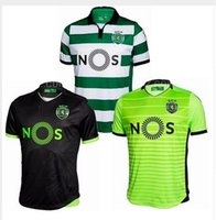 best soccer t shirts - Best Quality Soccer Jersey Sporting Lisbon Jersey de futbol Luis Figo Nani TEO Slimani William Montero Home Away Football Shirts T
