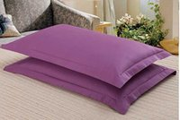 Wholesale 2pc Bedding Standard cotton Pillow Case pillow cases pillow cover many Colors good quality A7