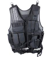 Wholesale Black Lightweight Nylon Multi Pocket Mesh Platform Recon Tactical Vest Mens