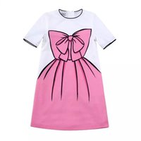 baby luxury brands - Wlmonsoon Girl Summer Dress Baby Girls Dresses for Children Clothing Luxury Brand Cute Bow Print Kids Dresses for Girls Clothes
