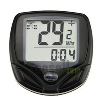 Wholesale Cycle Computer Leisure Functions Waterproof Odometer Speedometer With LCD Display Bike Speedometer Bicycle Cycling Computer KCLME