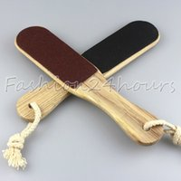 Wholesale New Double Sided Foot Rasp File Pedicure Tool Wood Handle Callus Remover Art