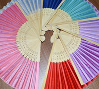 Wholesale Colorful Chinese folding fan of fashion and elegant low carbon wedding bride hand fan birthday party accessories