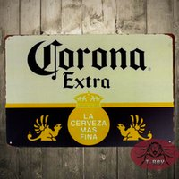 Wholesale Metal Tin signs quot Corona Extra Beer quot Cerveza Metal Art Poster Bar Pub Shop Store Decor Craft Wall Painting