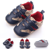 Wholesale New Design Baby Sport Shoes for Boy Spring Autumn Hook loop Anti slip Soft Sole Double Hook Loop Infant Walking Shoes