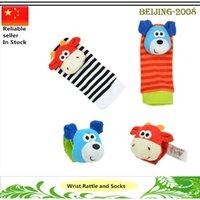 baby watch band - 4pcs set Sozzy baby animal watch band wrist length socks rattles bell baby newborn toy