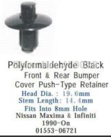 Cheap auto clip fastener for push type retainer for bumper fascia accord 1990-on 91504-SM4-000 clip fastener