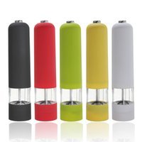 Wholesale High quality CE certificated ABS Plastic Electric Pepper Salt Spice Sauce Grinder Mill Muller With Light Kitchen Tool