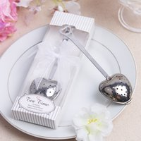 Wholesale Smallwholesales Spoon Tea Filter Tea Bag Gift Package Fashion Marry Favors Tea Strainer Stainless Steel Heart Shaped Design Tea Infuser