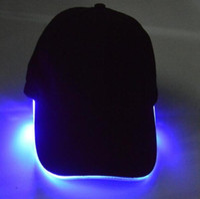 baseball party lights - LED Light Hat LED Flash Hats Baseball Caps Light LED Hats Party Hats Boys Grils Cap Fashion Luminous Hat Ball Caps Hip hop Hat